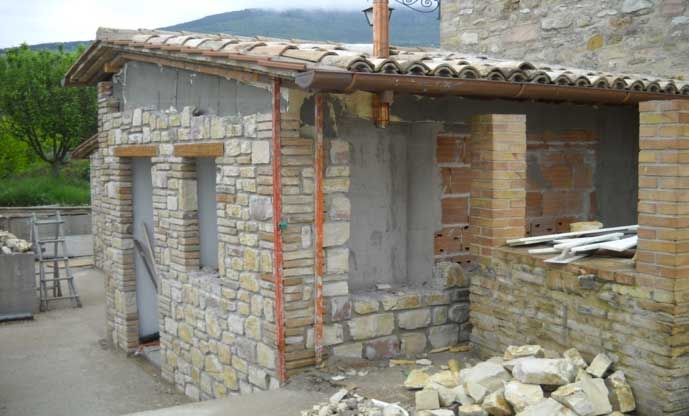 ristrutturazione casa rivestimento in pietra